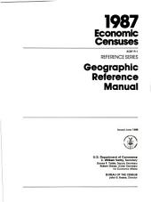 1987 economic censuses: geographic reference manual