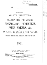 Kelly's Directory of Stationers, Printers, Booksellers, Publishers and Papers Makers of England, Scotland and Wales and the Principal Towns in Ireland, the Channel Islands and Isle of Man