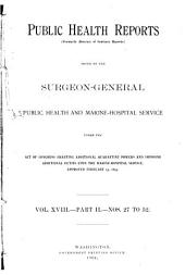 Public Health Reports: Volume 18, Issues 27-52