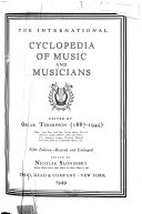 The International Cyclopedia of Music and Musicians