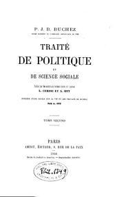 Traité de politique et de science sociale: Volume2