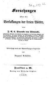 Forschungen über die Verfassungen der freien Völker