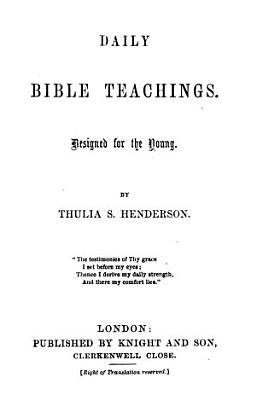 Daily Bible teachings  for the young PDF