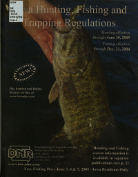Iowa Hunting  Fishing and Trapping Regulations PDF