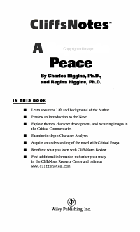 CliffsNotes on Knowle s A Separate Peace PDF