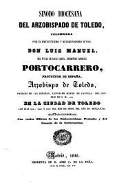 Sinodo diocesana del arzobispado de Toledo