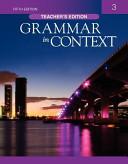 GRAMMAR IN CONTEXT  3 TEACHER S EDITION  FIFTH EDITION  PDF