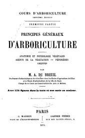Cours d'arboriculture: Volume1