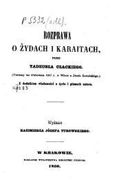 Rozprawa o Żydach i Karaitach