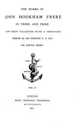 The Works of John Hookham Frere in Verse and Prose: Volume 2