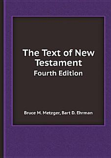 The Text of New Testament Book
