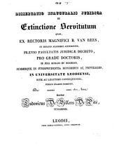 Dissertatio inauguralis juridica de extinctione servitutum