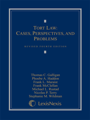 Tort Law  Cases  Perspectives  and Problems PDF