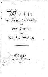 Sämtliche auserlesene Schriften: Worte der Lehre, des Orostes, und der Freude