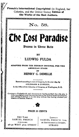 The Lost Paradise PDF