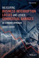 Measuring Business Interruption Losses and Other Commercial Damages PDF