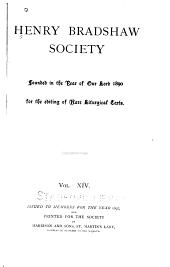 The Irish Liber hymnorum: Volume 14
