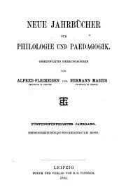 Neue Jahrbücher für Philologie und Paedagogik: Band 131