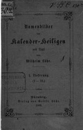 Namenbilder der Kalender-Heiligen: mit Text, Band 1
