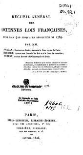 Recueil général des anciennes lois françaises, depuis l'an 420 jusqu'à la révolution de 1789: 1774-1776, Volume23