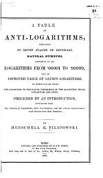 A Table of Anti-logarithms