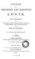 System Der Deductiven Und Inductiven Logik PDF