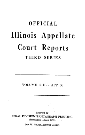 Official Illinois Appellate Court Reports PDF