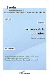 Sciences de la formation: Constats et questions