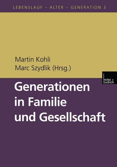 Generationen in Familie und Gesellschaft PDF