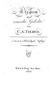 Elegien und vermischte Gedichte. Neueste und vollständigste Aufl: Band 1