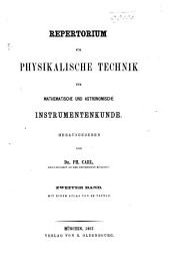 Repertorium der Physik: Band 2