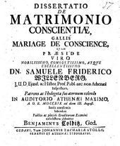 Dissertatio de matrimonio conscientiae, Gallis mariage de conscience
