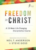 Freedom in Christ Leader s Guide PDF