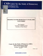Prospects for Democracy in Islamic Countries PDF