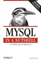 MySQL in a Nutshell PDF