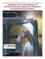 Guideline for the Development of Personal Protective Equipment Programs for Small Business Owners PDF