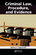 Criminal Law, Procedure, and Evidence