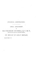 Fur Seal Arbitration  Proceedings of the Tribunal of Arbitration  Convened at Paris    PDF
