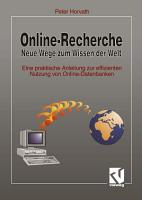 Online Recherche Neue Wege zum Wissen der Welt PDF
