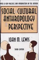 Social and Cultural Anthropology in Perspective PDF