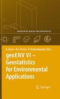 geoENV VI     Geostatistics for Environmental Applications PDF