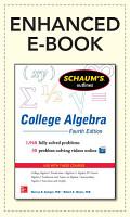 Schaum s Outline of College Algebra  4th Edition PDF