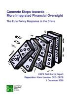 Concrete Steps towards More Integrated Financial Oversight  The EU   s Policy Response to the Crisis PDF
