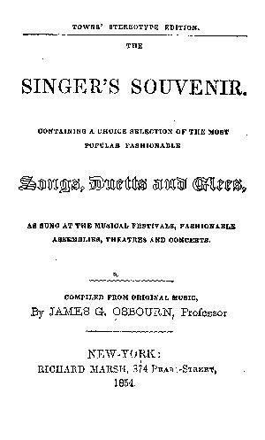 The Singer s Souvenir