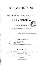De las colonias, 1: y de la revolución actual de la américa