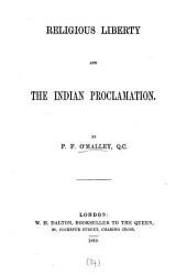 Religious liberty and the Indian proclamation [of queen Victoria].