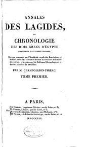 Annales des Lagides: ou, Chronologie des rois grecs d'Égypte, successeurs d'Alexandre-le-Grand, Volume1