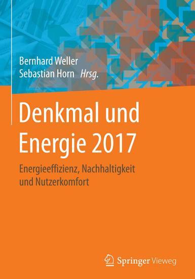 Denkmal und Energie 2017 PDF