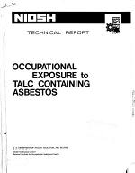 Occupational Exposure to Talc Containing Asbestos
