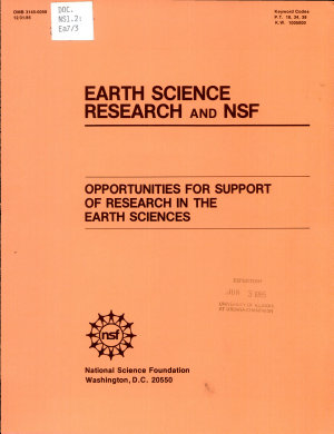 Earth Science Research and NSF PDF
